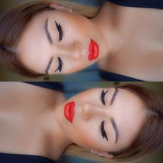 Amazing Coral Makeup