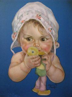 Vintage Charlotte Becker baby print.