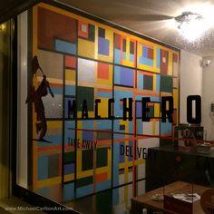 Mural at Maccheroni - Mural taking shape...