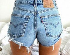 Levi's 501 High Waisted Vintage Denim Shorts by LunaLovesVintage