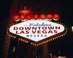 """WELCOME TO FABULOUS LAS VEGAS IRON ON PATCH 3.8/"""" Embroidered Famous Nevada Sign"""