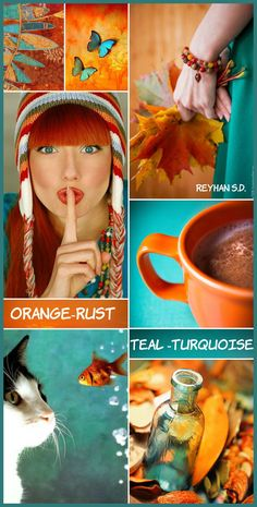 Apr 2020 - Learn about painting room pvc pipes Click the link for more info. Teal Color Schemes, Colour Pallette, Color Combos, Mood Colors, Teal Colors, Orange Color, Orange And Turquoise, Colour Board, Color Stories