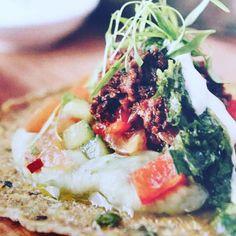 Mushroom Fiesta Tacos - on our Raw Brunch Menu tomorrow for our Yoga Brunch & with Moran www. Raw Living, Restaurant 2, Brunch Menu, Bar Grill, Love Food, Grilling, Tacos, Stuffed Mushrooms, Yoga