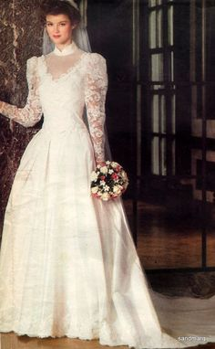 $12.49 for the pattern 1980s Vogue Bridal dress My wedding dress, still have the pattern, bridesmaids worn white with pink trim in the same pattern.....Aaaaah the memories!!
