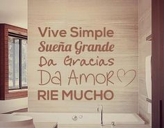 Live simple, dream big, give thanks, give LOVE, laugh a LOT! Wall Stickers, Wall Decals, My Room, Decoration, Ideas Para, Sweet Home, Lettering, Home Decor, Eve
