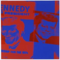 This print, created by Andy Warhol the day of President John F. Kennedy's assassination, shows the result of a presidency that was widely idolized in the media. JFK's portrayal in Pop Art was indicative of how he was viewed; he and his family were arguably the first First Family to be inundated in American popular culture, and therefore were widely accessible to the American people. Image owned by Telfair Museum in Savannah, Georgia.
