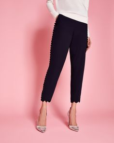 DYANNI Scallop-Trim Jogger Pants || Ted Baker