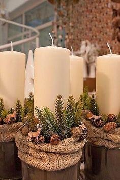 Rustic Christmas, Simple Christmas, Christmas Home, Vintage Christmas, Christmas Holidays, Christmas Ornaments, Christmas Candles, Christmas Wedding, Christmas Stockings