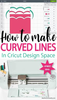 How to make a Curved line in Cricut Design Space 6f7b9e2765bba