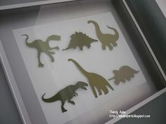 Cricut DIY dinosaur art! What a great idea, we'll have to try it here at http://www.dinopit.com headquarters!