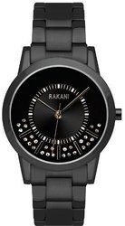 Rakani Stuck In Traffic 32mm Swarovski Crystals Watch with Black Steel Case and Band