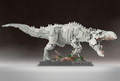 Cool Stuff: Custom LEGO Sets for 'Jurassic World' Indominus Rex and 'Jurassic Park' Ford Explorer Dino Lego, Robot Lego, Arte Robot, Lego Moc, Lego Batman, Lego Jurassic World, Lego Design, Indominus Rex, Tyrannosaurus Rex