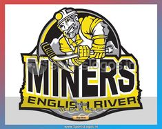 English River Miners (Ear Falls, Ontario) -Superior International Junior Hockey League- /Junior A/ Hockey Logos, Hockey Teams, Sports Logos, Canada Hockey, Casual Art, Computerized Embroidery Machine, As You Like, Nhl, Team Logo