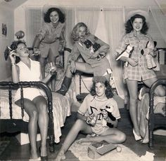 Sorority sisters at the University of Texas in 1944....