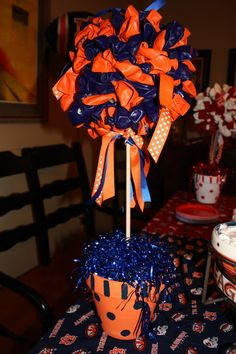 Auburn Balloon Topiary for my daughters cheerleading party.
