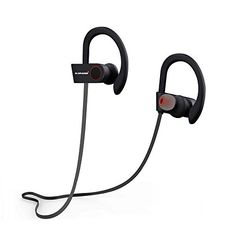 Bluetooth Headphones NORANIE Sport Wireless Stereo InEar Sweatproof Earhook with Mic for iPhone Samung Android etcBlack * For more information, visit image link.