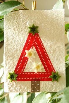 Christmas Tree Card ~ ribbon & felt
