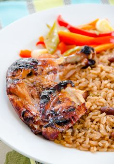 Easy Peasy Jamaican Jerk Chicken by dominicancooking: Uses World Harbors  marinade. #Chicken #Jamaican_Jerk_Chicken #dominicancooking