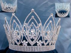 Imperial Rhinestone Full Round Queen or King Crown