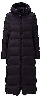 $156 ★uniqlo Elegant Trendy Women Girl Ultra Light Down Jacket Long Coat Hooded 80579 | eBay