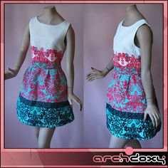 Vintage Superb Printed Skater Skirt Rockabilly Mini Dress  http://www.ebay.co.uk/itm/Vintage-Superb-Printed-Skater-Skirt-Rockabilly-Mini-Dress-UK12-/371643123791?ssPageName=STRK:MESE:IT