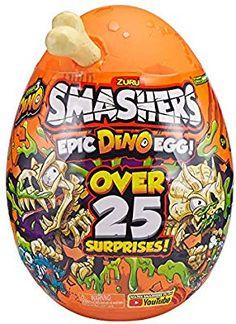 Smashers Epic Dino Egg Collectibles Series 3 Dino by Zuru - T-Rex Birthday Party Games For Kids, Birthday List, Baby Birthday, Dinosaur Skeleton, Dinosaur Bones, Nerf Bow And Arrow, Parking Lot Painting, Ryan Toys, Dino Eggs