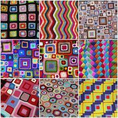 Blankets Mosaic....Gorgeous ideas.