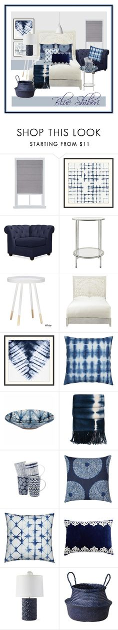 """Shibori"" by laarbuixech on Polyvore featuring interior, interiors, interior design, hogar, home decor, interior decorating, Pottery Barn, Home Decorators Collection, Kevin O'Brien y Fitz & Floyd"