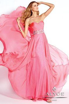 Alyce BDazzle Silky Chiffon Gown