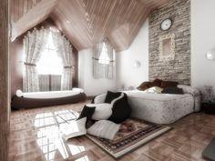 Interior Design Images, Residential Interior Design, Romantic Bedroom Design, Interior Decorating, Room Decor, House Design, Furniture, Wall Ideas, Design Firms