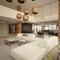 Loft w dolnej części Manhattanu projektu Mononika Interior Design - PLN Design