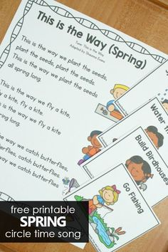 Fun Spring Preschool Circle Time Song - Fantastic Fun & Learning