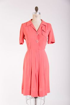 Brightest Day Dress 1940s vintage