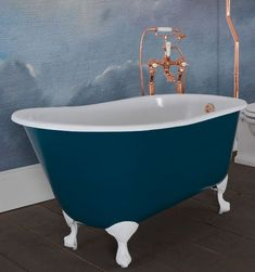 The Chloe Bath from Hurlingham Copper Roll, Copper Bath, Cast Iron Bath, Roll Top Bath, Clawfoot Bathtub, Bathroom Accessories, Baths, Chloe, Bathrooms