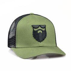 63f8213c4d6f3 OG Beard Logo Mesh Trucker - Army Green