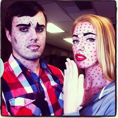 Pop art costume #Lichtenstein #popart #couplecostume