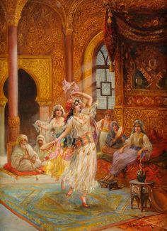 Klara's image of an Arabian dancer. Dance Oriental, Motif Oriental, Middle Eastern Art, Dancing Drawings, Islamic Paintings, Iranian Art, Futuristic Art, Classical Art, Dance Art