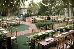 Casa Feliz Historic Home in Winter Park, Florida made for the perfect outdoor reception space. . . . #outdoorwedding #weddingideas #gardenwedding