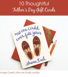 10 Clever Fathers Day Gift Card Ideas