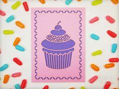 Laser Cut Pink Cupcake Card from Alexis Mattox Design