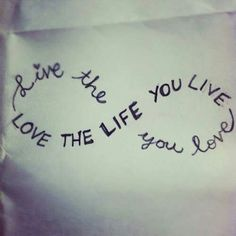 live your life with love
