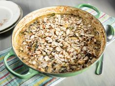 """Smoky Chicken, Broccoli Rabe and Wild Rice Casserole (Comeback Casseroles) - Damaris Phillips, """"The Bobby and Damaris Show"""" on the Food Network. Chicken Tetrazzini Casserole, Chicken Casserole, Rice Casserole, Casserole Recipes, Food Network Recipes, Cooking Recipes, Greek Lemon Chicken, Chicken And Wild Rice, Food Network Canada"""