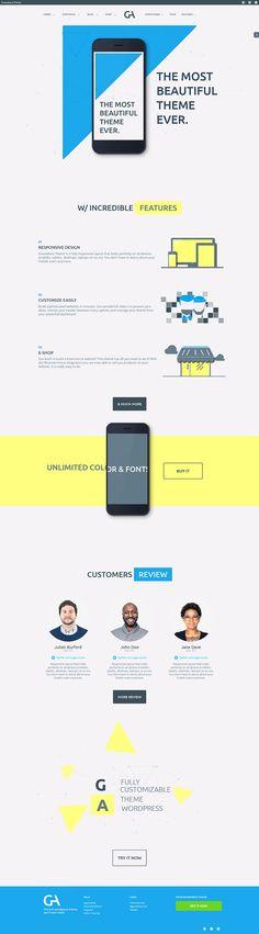 Gravedona - Responsive Multi-Purpose Theme by AgenceMe Design Web, Web Design Studio, Creative Design, Website Layout, Web Layout, Layout Design, Coding Websites, Ui Web, Website Design Inspiration