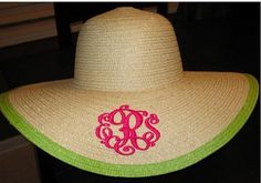 Monogrammed hat (if only the s was a p)