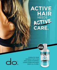 3-n-1 Cross Train Conditioning Shampoo from do. Active Products is a must for every active guy and gal's gym bag.... Pair it with our Endurance Intense Conditioner. Both products are 100% vegan. #dothedo #vegansdo