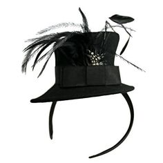 Mini top hat on a headband