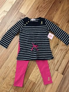 Brand New Infant Girls Juicy Couture Tunic Leggings Outfit 18-24 Months NWT #JuicyCouture