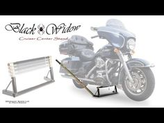 VIDEO: Black Widow Cruiser Center Stand from Discount Ramps lifts the front or rear wheel of your touring motorcycle for repairs or routine maintenance. http://www.discountramps.com/cruiser-stand.htm