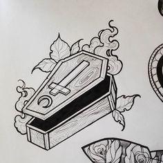 New little coffin. #illustration #darkart #blackwork #blackworkerssubmission #darkarts #artistoninstagram #artoftheday #otd #artwork #tarots #neotraditional #apprenticetattooist #flashtattoo #tattoos #black #drawingoftheday #art #sketching #sketch #occult #flashtattoos #artwork #drawing #draw #drawings #blackwork #onlythedarkest #ttblackink #macabreart #iblackworkers #inkfeature #blackworknow