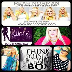The Wole' Curvy Girl Of The Week Is... Reah Norman Plus Size Fashion & Style Expert!